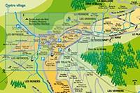 Plan de la station de la Clusaz